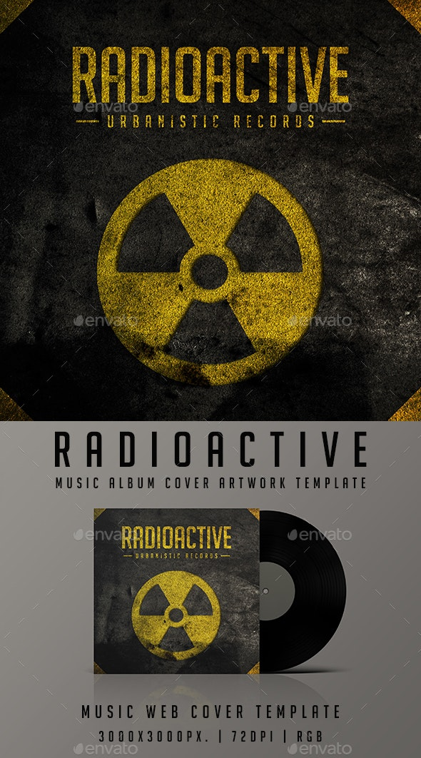 Radioactive - Music Album or Song Cover Urban Grunge Artwork Template - Miscellaneous Social Media
