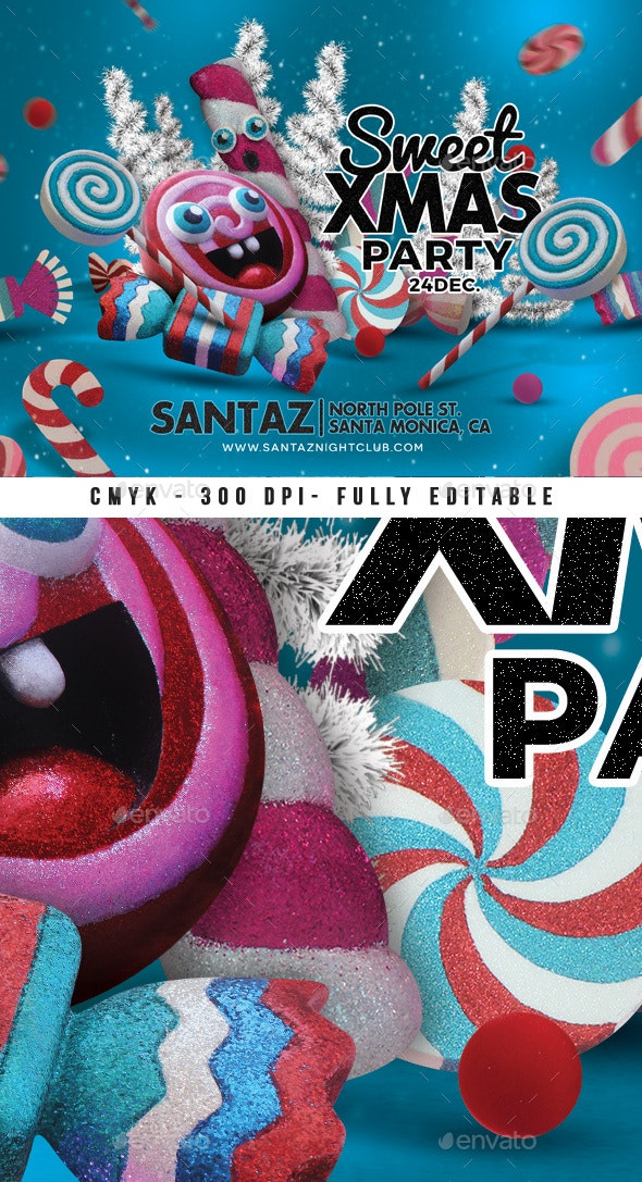 Sweet Xmas Party Flyer - Clubs & Parties Events