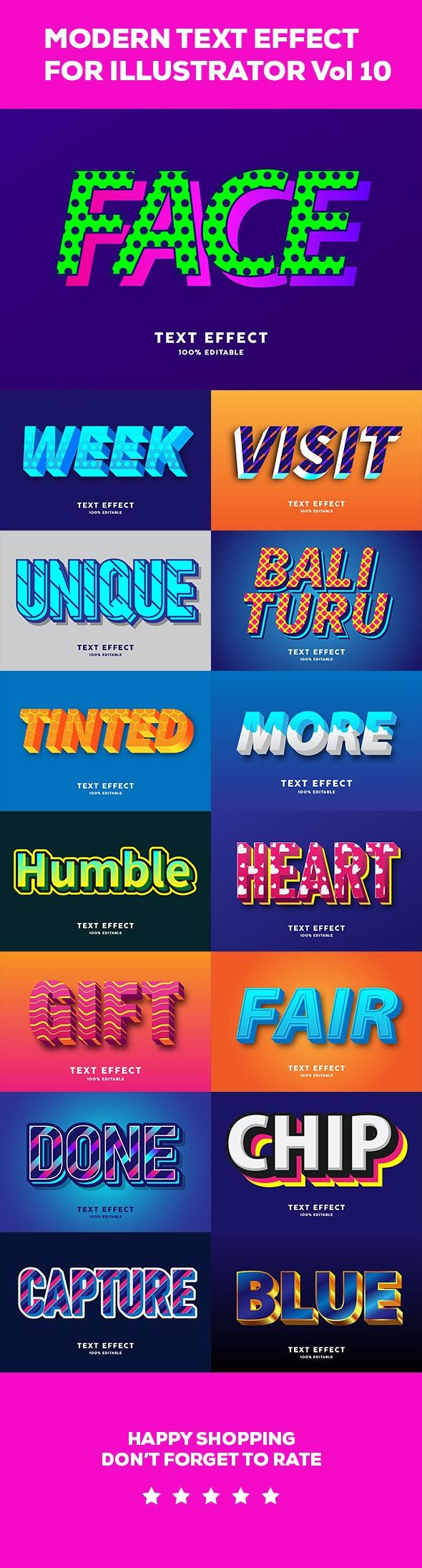 Text effect Modern vol 10 - Styles Illustrator