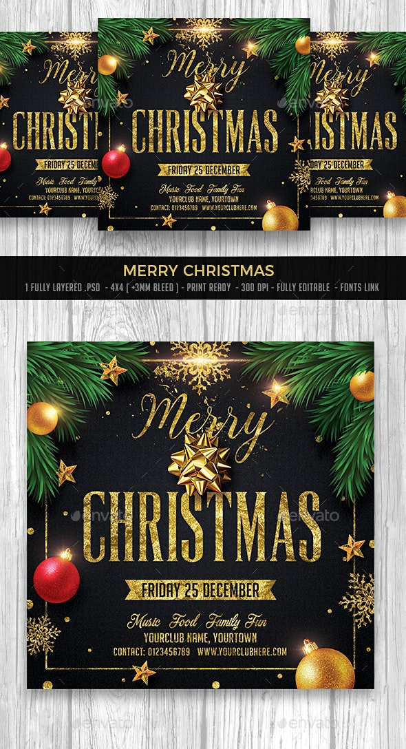 Merry Christmas - Events Flyers