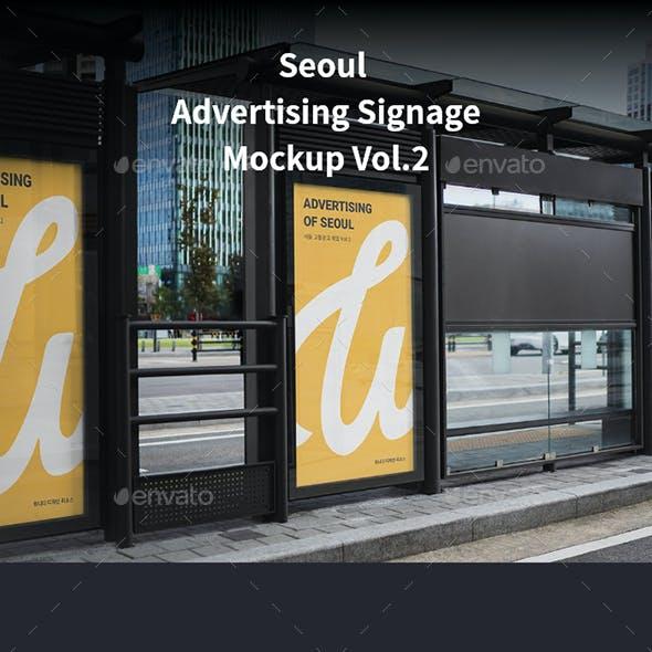 Seoul Advertising Signage Mockup Vol.2