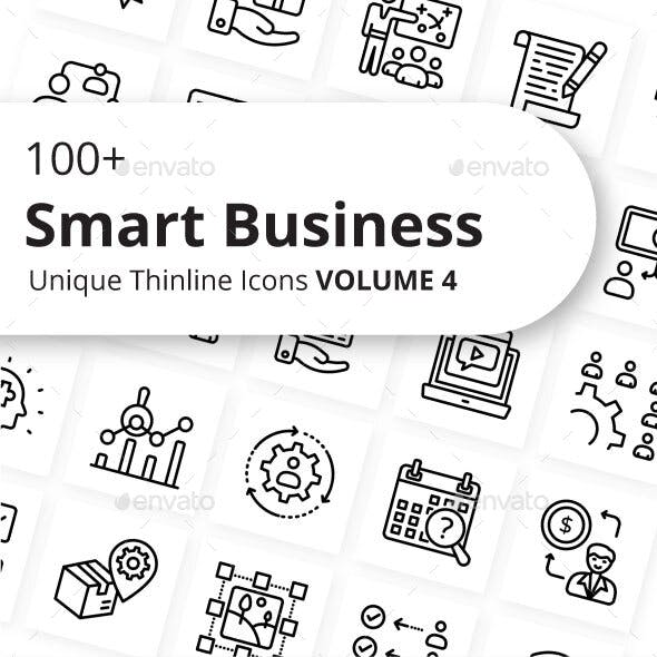 Smart Business Outline Icons Volume 4
