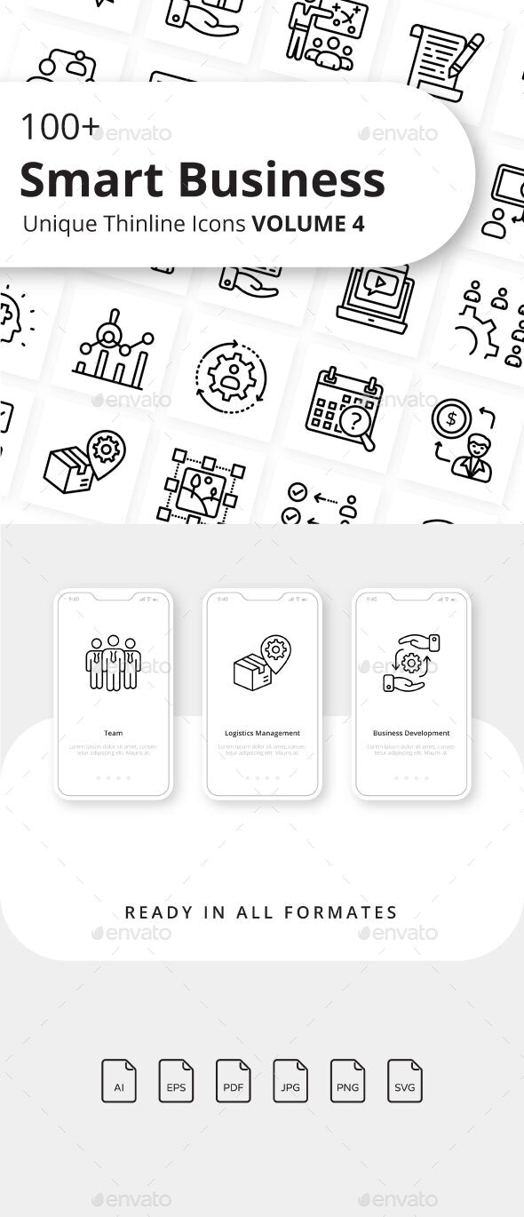 Smart Business Outline Icons Volume 4 - Business Icons