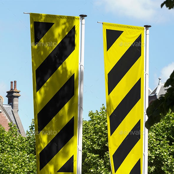 City Banner Flag Mockup