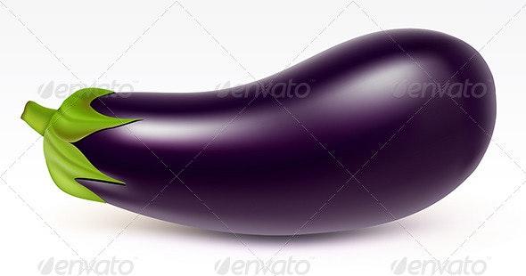 Big aubergine - Food Objects