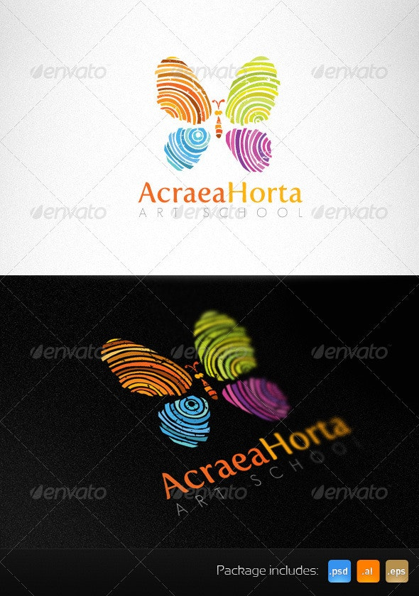 Art School Handmade Creative Logo Template - Animals Logo Templates