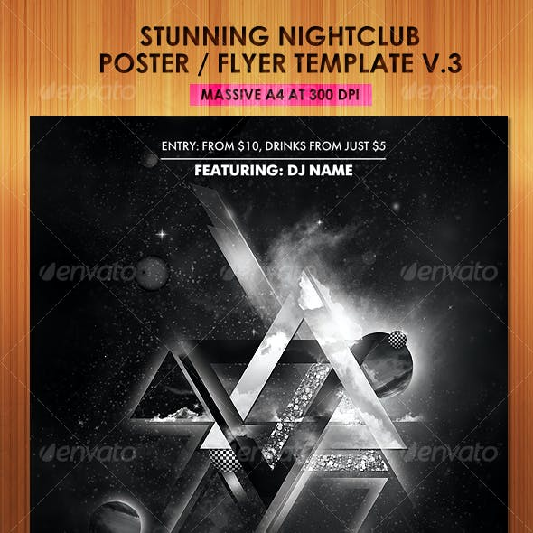 Stunning Nightclub Poster Flyer Template v3
