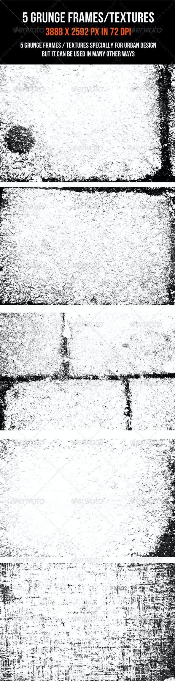 5 Grunge Textures - Industrial / Grunge Textures
