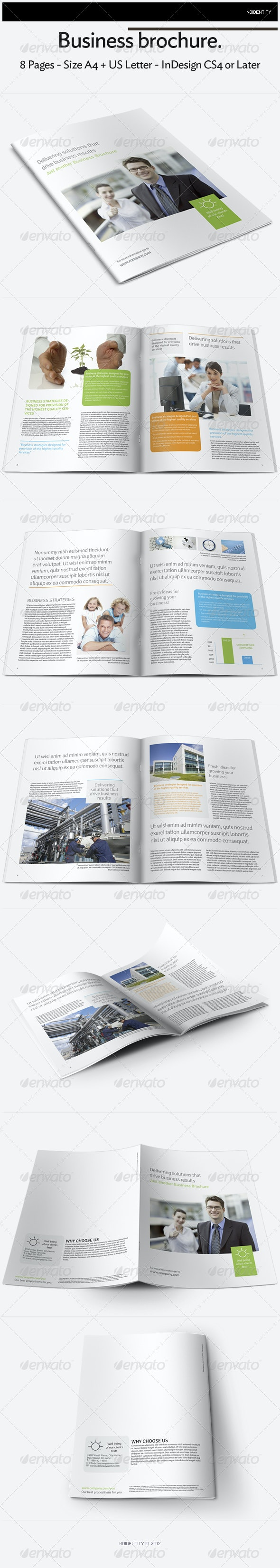 8 Pages Business Brochure - Brochures Print Templates