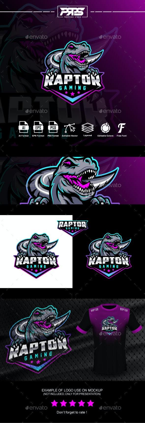 Raptor Esport Logo - Animals Logo Templates