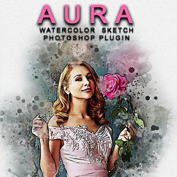 Aura Watercolor Sketch Photoshop Plugin
