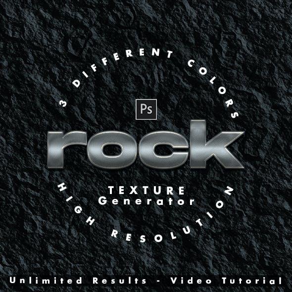 Rock Realistic Texture Photoshop Generator