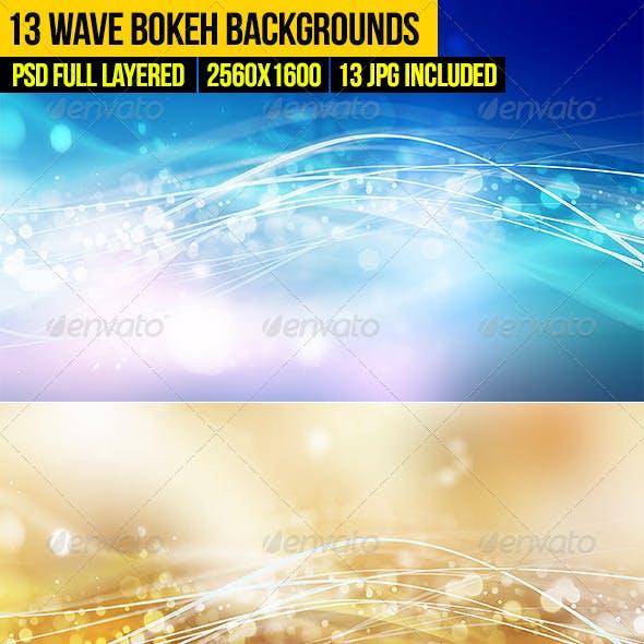 13 Wave Bokeh Backgrounds