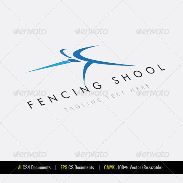 Fencing School Logo Template