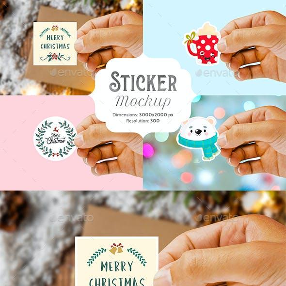 Sticker Mockup