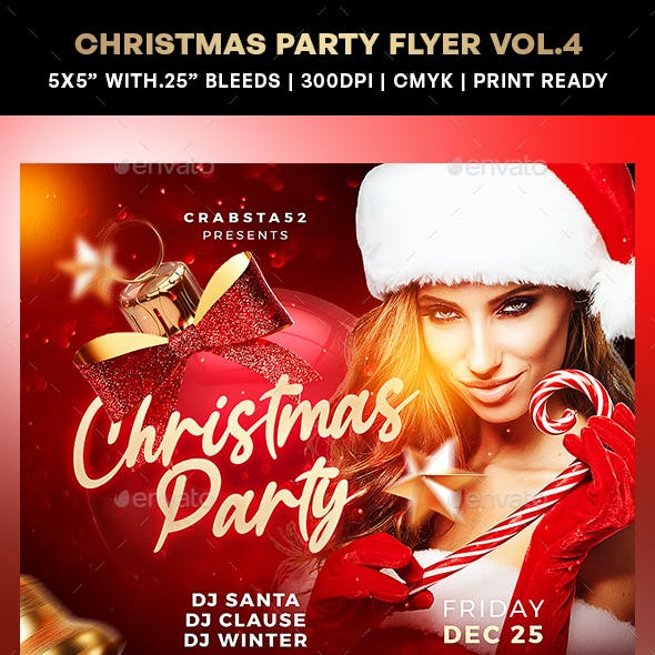 Christmas Party Flyer Vol.4