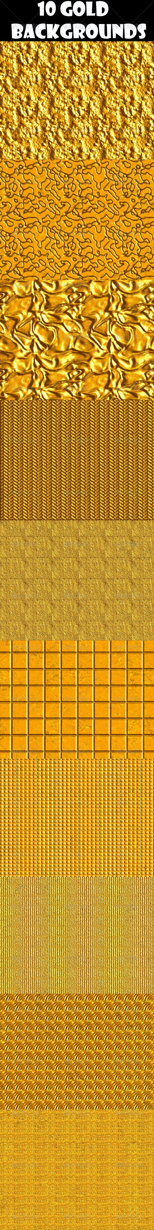 10 Gold Backgrounds - Patterns Backgrounds
