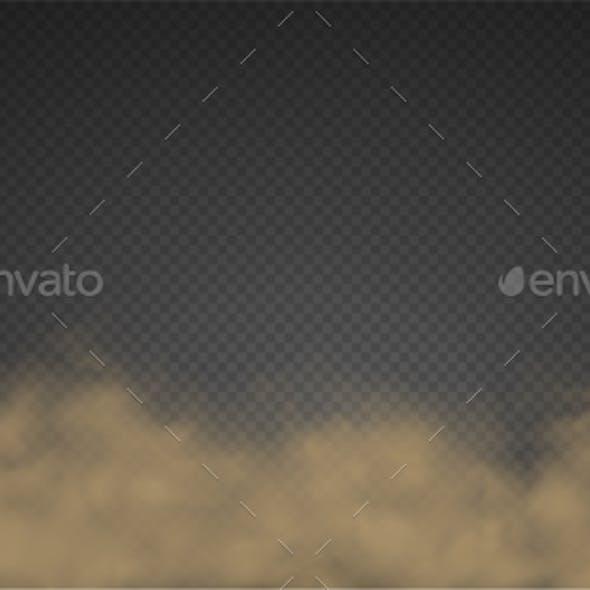 Cloud of Smoke Fog, Road Dust, Urban Smog