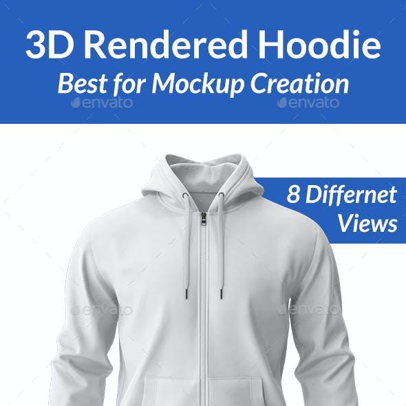 3D Rendered Hoodie PNG Set