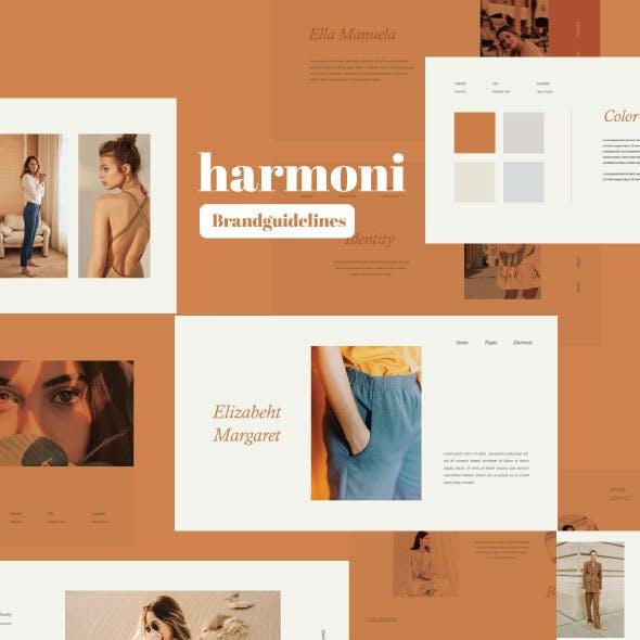 Harmoni - Branding Guidelines Google Slide Template
