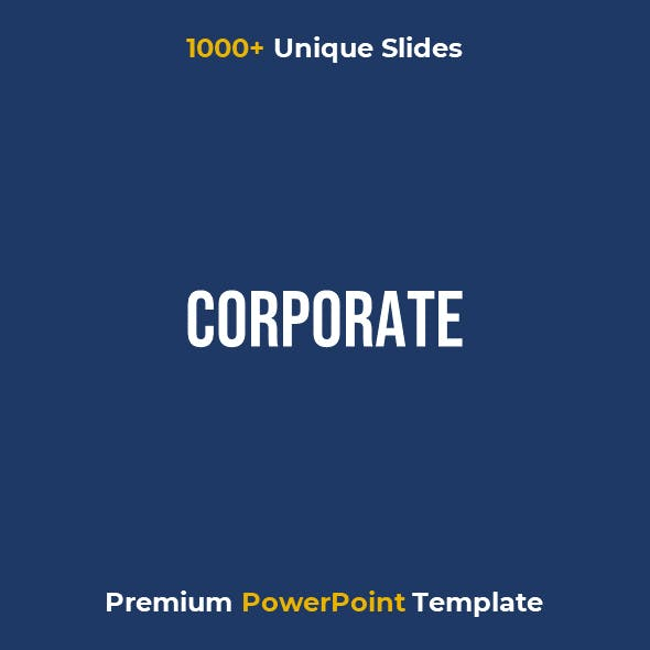 Corporate - Premium PowerPoint Template for Business