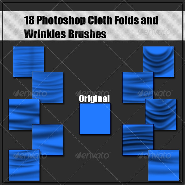 18 Cloth Fold Brushes - Miscellaneous Brushes