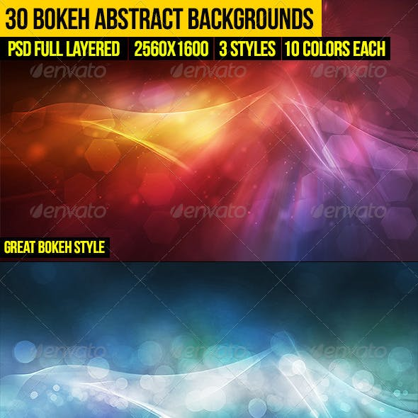 30 Bokeh Abstract Backgrounds