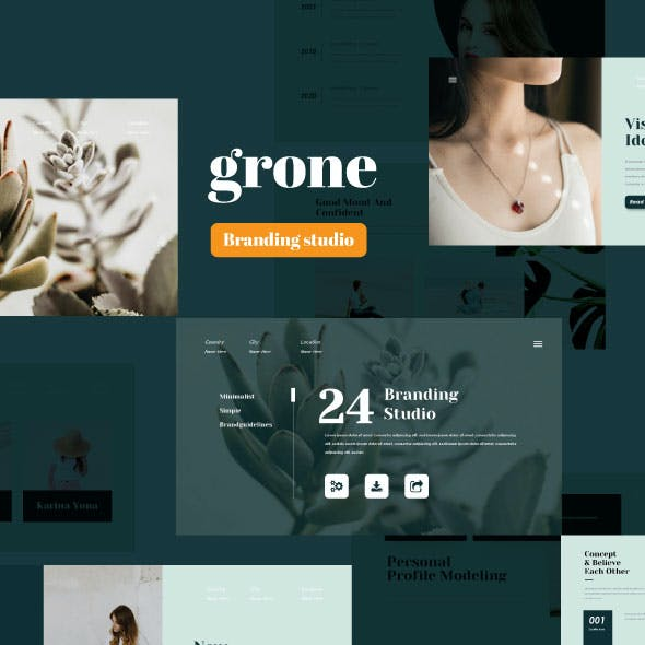 Grone - Branding Studio Google Slide Template