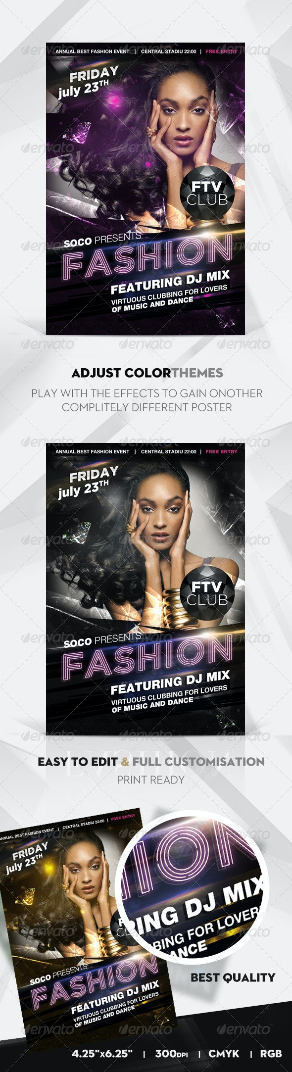 VIP Fashion Party Flyer - Events Flyers