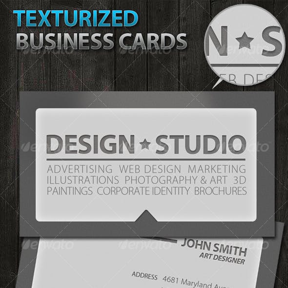 Texturized grunge Business Cards