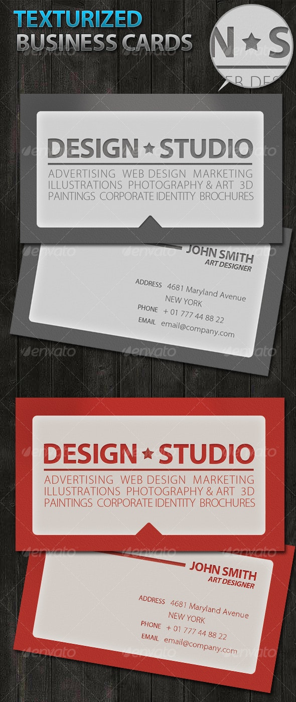 Texturized grunge Business Cards - Business Cards Print Templates