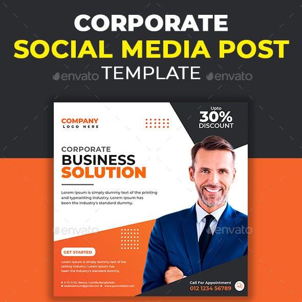 Corporate Business Social Media Post Template