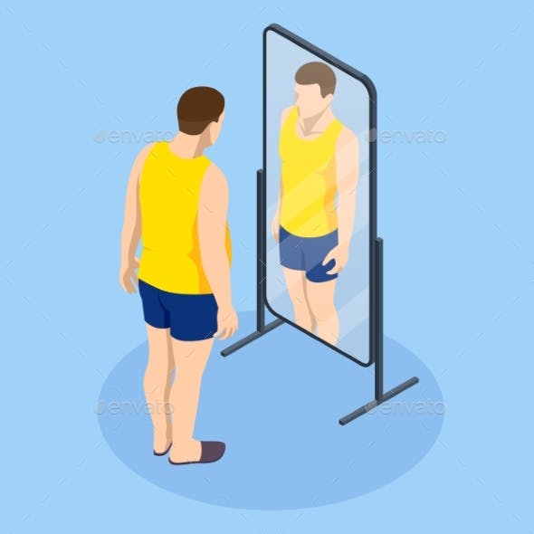 Problem of Excess Weight and Health. Isometric Fat