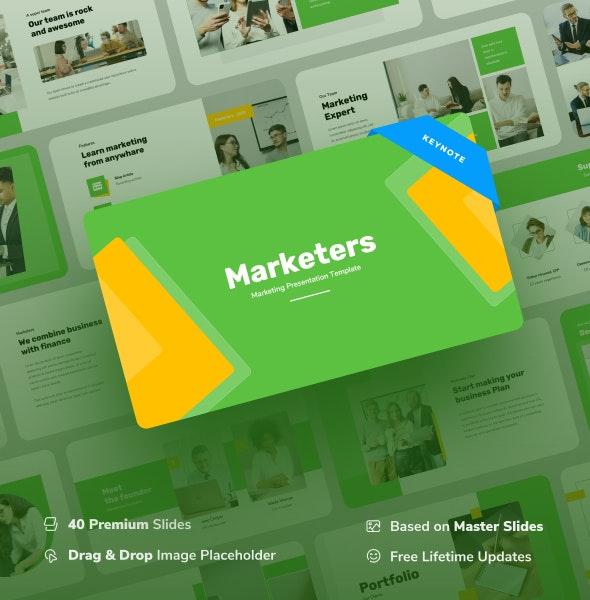 Marketers - Marketing Keynote Presentation - Finance Keynote Templates