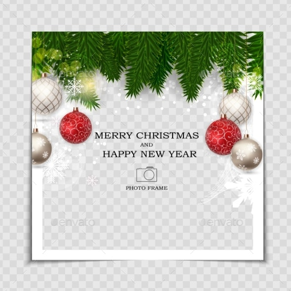 Merry Christmas and Happy New Year Photo Frame - Christmas Seasons/Holidays
