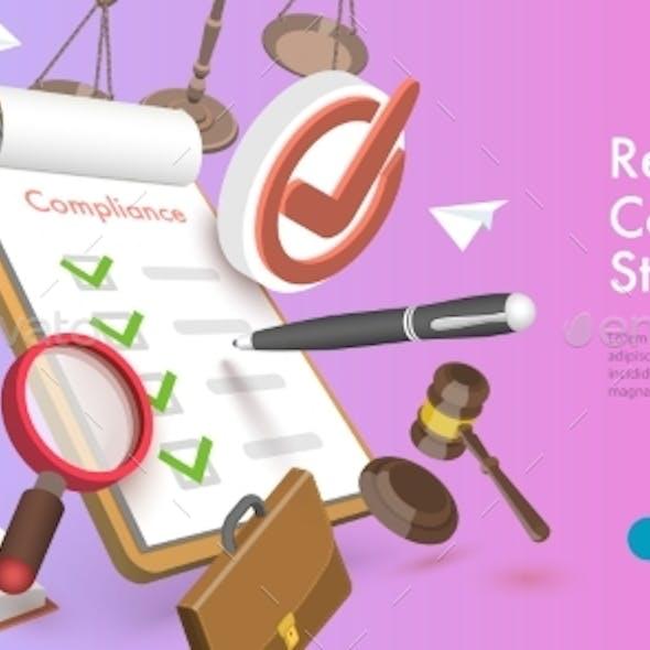 3D Vector Conceptual Illustration of Regulatory