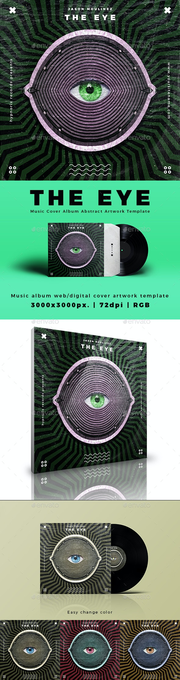 The Eye - Music Cover Album or Song Cover Abstract Artwork Template - Miscellaneous Social Media
