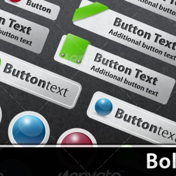 Bold & Bright Web Buttons