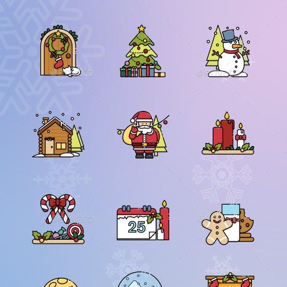 15 Christmas Scene Icon