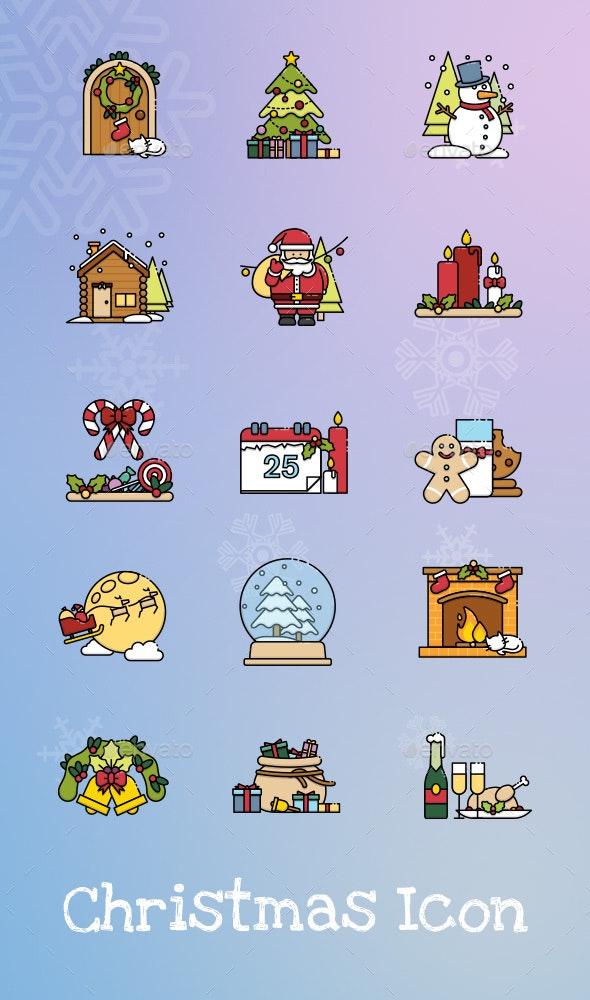 15 Christmas Scene Icon - Seasonal Icons
