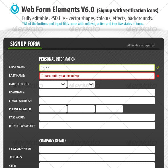 Web Form Elements v6.0 by VO