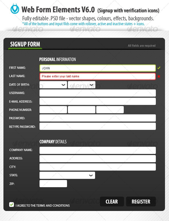 Web Form Elements v6.0 by VO - Forms Web Elements