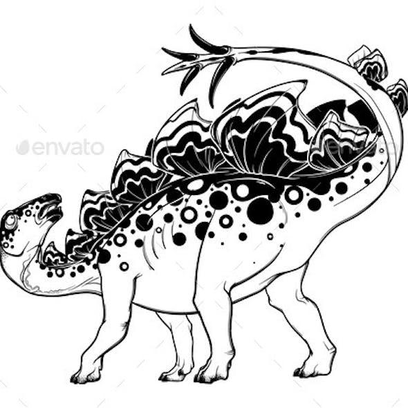 Stegosaurus in Defensive Position