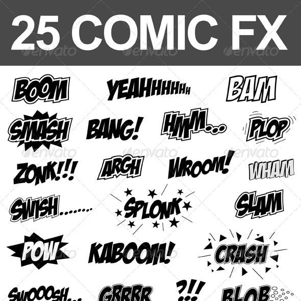 25 Comic Sound FX (Vector Set)