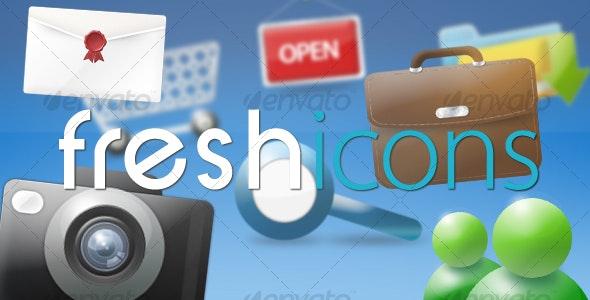 Fresh Icons - Bold Crisp Web Icons - Web Icons