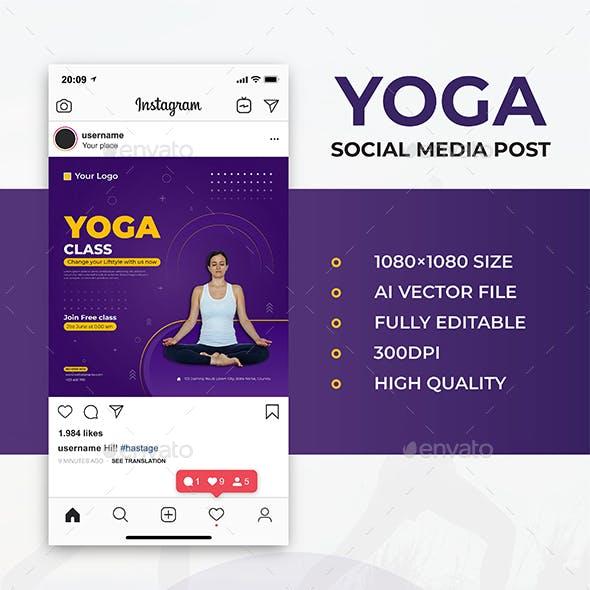 Yoga Social Media Post Template