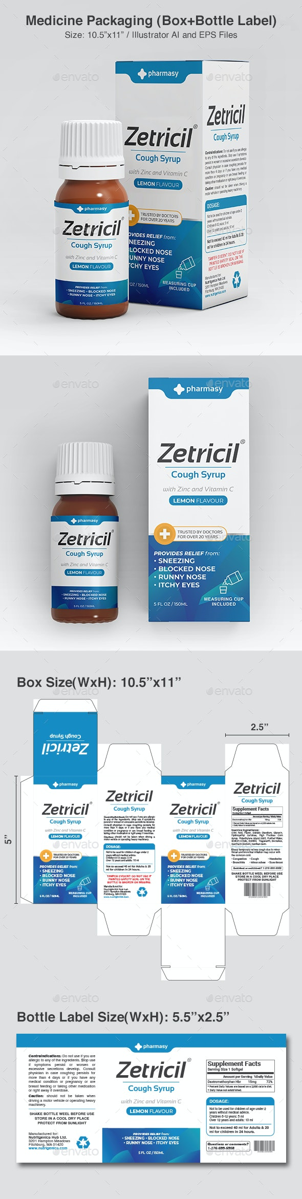 Medicine Packaging Template - Packaging Print Templates
