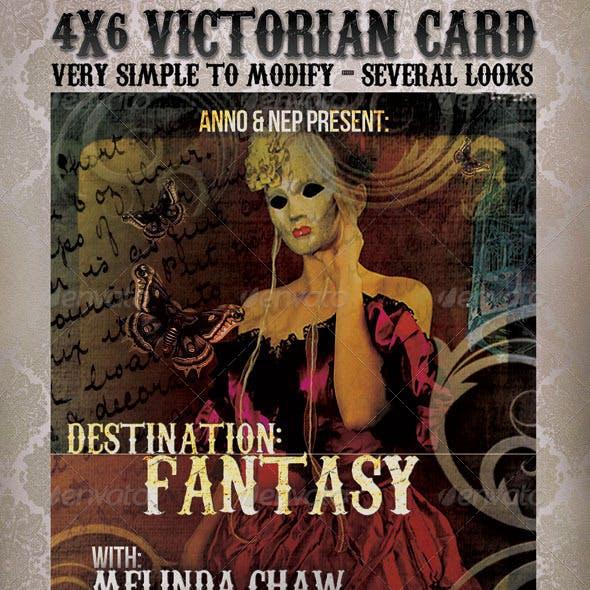 Victorian Vintage Card
