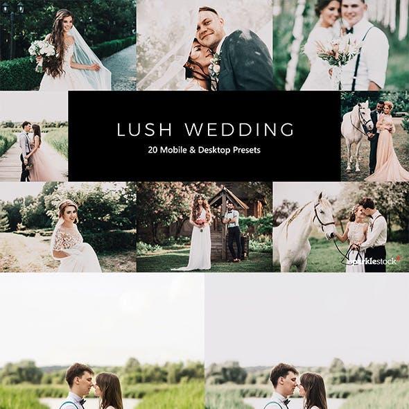 20 Lush Wedding Lightroom Presets & LUTs