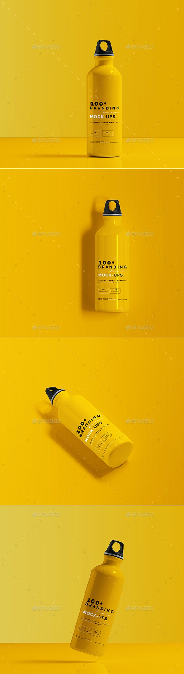 Aluminum Water Bottle Mockup - Food and Drink Packaging